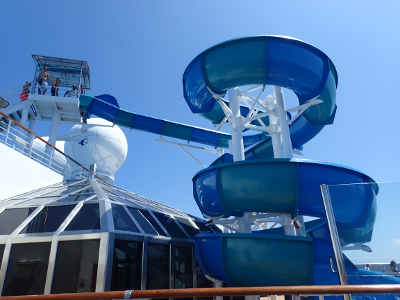 Carnival Splendor water slide